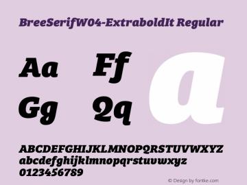 BreeSerifW04-ExtraboldIt