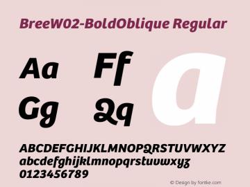 BreeW02-BoldOblique