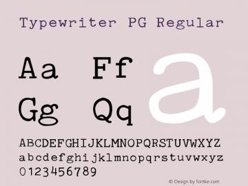 Typewriter PG