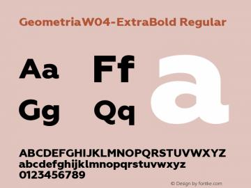 GeometriaW04-ExtraBold