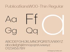 PublicaSansW00-Thin