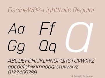 OscineW02-LightItalic