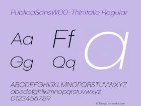 PublicaSansW00-ThinItalic