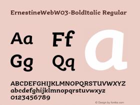 ErnestineWebW03-BoldItalic
