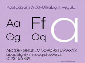 PublicaSansW00-UltraLight