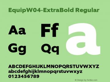 EquipW04-ExtraBold