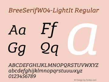 BreeSerifW04-LightIt