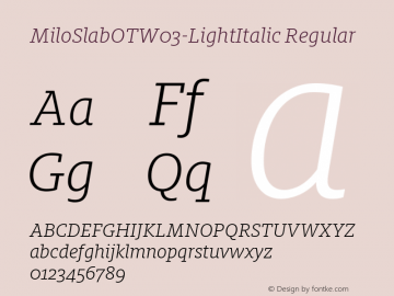 MiloSlabOTW03-LightItalic