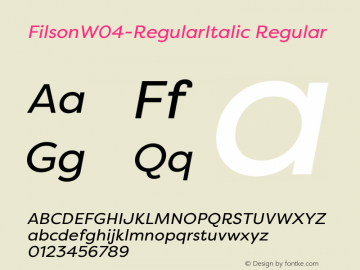 FilsonW04-RegularItalic