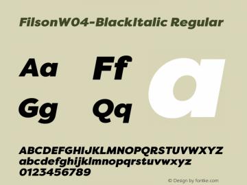 FilsonW04-BlackItalic
