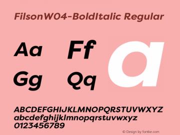 FilsonW04-BoldItalic