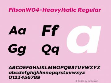 FilsonW04-HeavyItalic