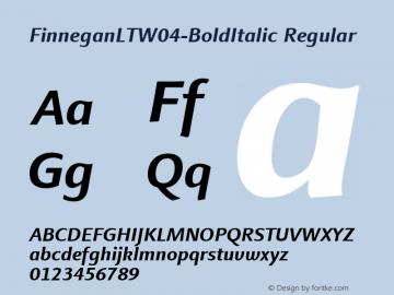 FinneganLTW04-BoldItalic