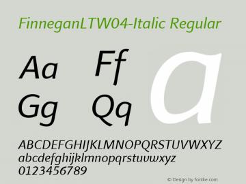 FinneganLTW04-Italic