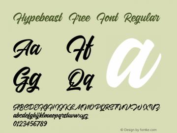 Hypebeast Free Font