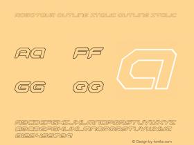 Robotaur Outline Italic