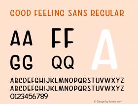 Good Feeling Sans