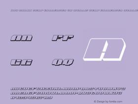 Joy Shark Semi-Condensed 3D Italic