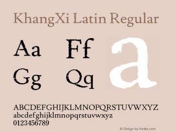 KhangXi Latin