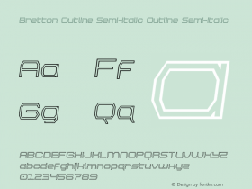 Bretton Outline Semi-Italic
