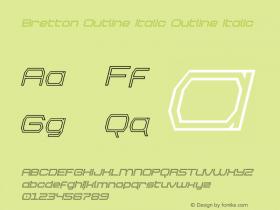 Bretton Outline Italic