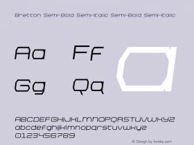 Bretton Semi-Bold Semi-Italic