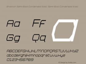 Bretton Semi-Bold Condensed Italic