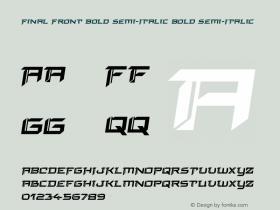 Final Front Bold Semi-Italic