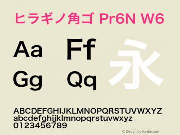 ヒラギノ角ゴ Pr6N