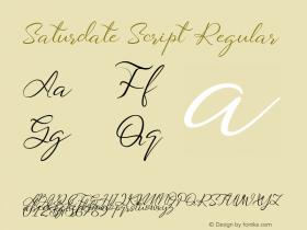 Saturdate Script