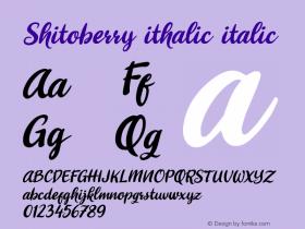 Shitoberry ithalic
