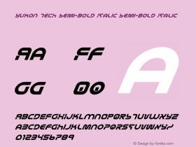 Yukon Tech Semi-Bold Italic