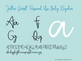 Jullia Script Personal Use Only