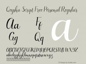 Qeysha Script Free Personal
