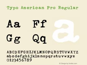 Typo American Pro