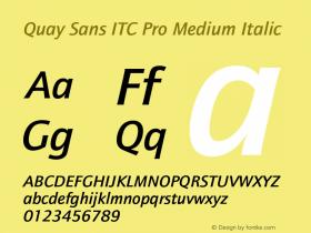 Quay Sans ITC Pro