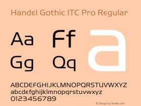 Handel Gothic ITC Pro