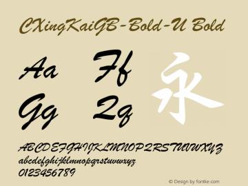 CXingKaiGB-Bold-U