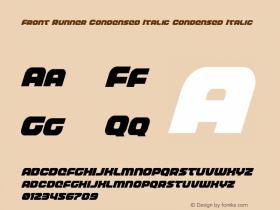 Front Runner Condensed Italic