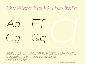Bw Aleta No 10