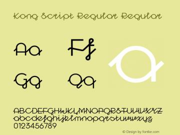 Kong Script Regular