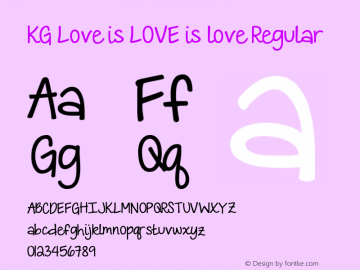 KG Love is LOVE is love