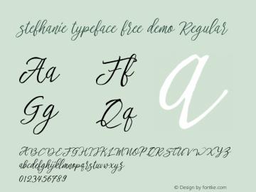 stefhanie typeface free demo