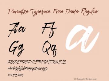 Paradise Typeface Free Demo