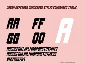 Urban Defender Condensed Italic