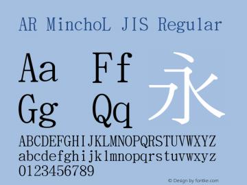 AR MinchoL JIS