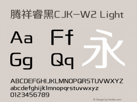 騰祥睿黑CJK-W2