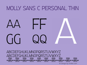 Molly Sans C PERSONAL