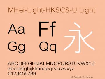 MHei-Light-HKSCS-U