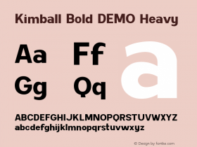 Kimball Bold DEMO